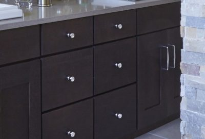wood bathroom cabinets installer