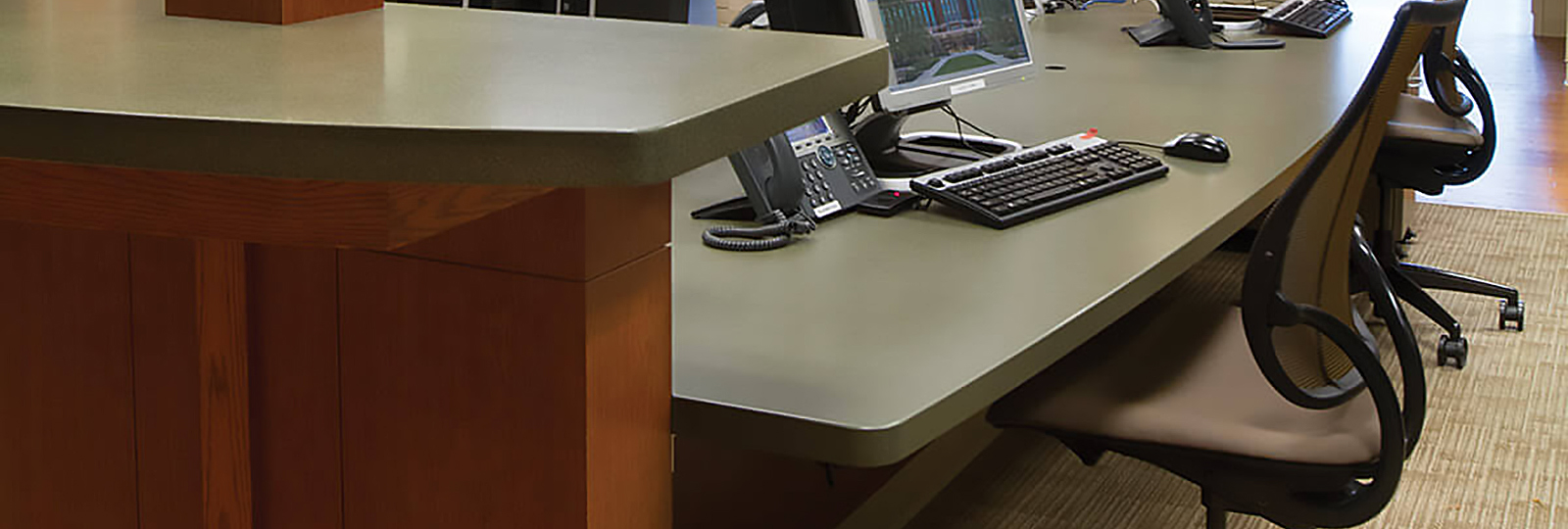 custom iowa commercial office front desk