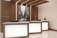 custom office cabinets reception counter