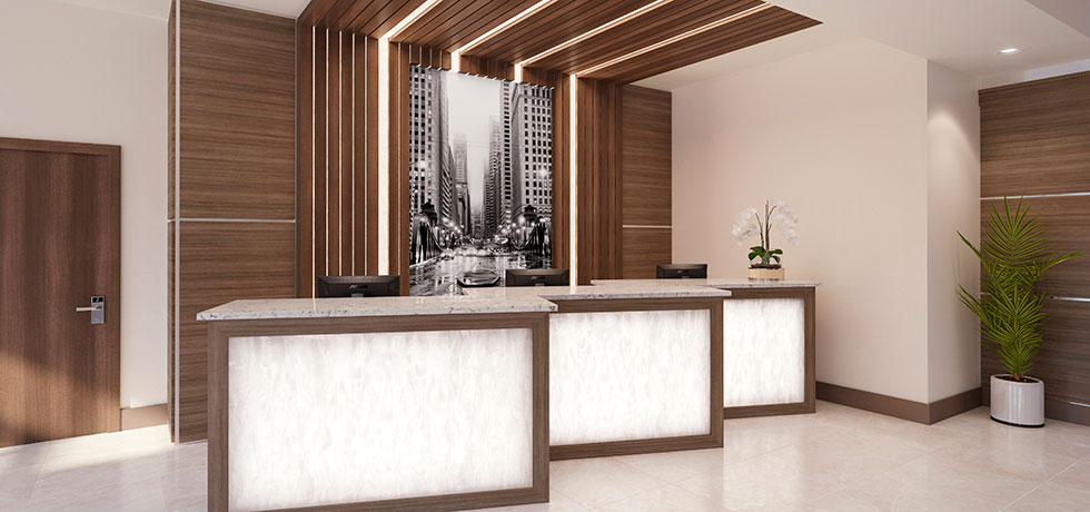 Office Reception Counters With Custom Office Cabinets Reception Counter Office Cabinets Custom Reception Counter Heartland Design Iowa